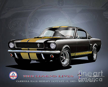 1966 Shelby Mustang GT350 Hertz  by Danny Whitfield