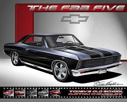 1967 Chevrolet Chevelle Custom The Fab Five by Danny Whitfield