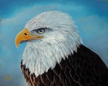 American Bald Eagle Portrait by Fineartist Ellen