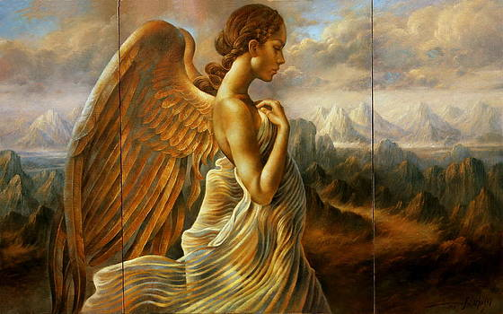 Angel triptych by Arthur Braginsky