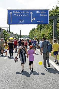 Autobahn A40 Ruhrgebiet Germany by David Davies