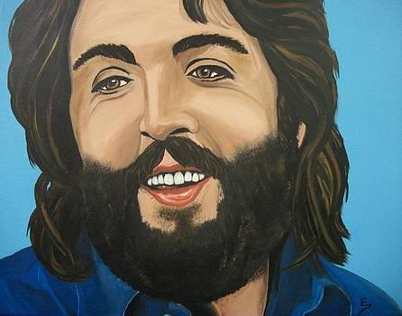 Bearded  PAUL McCARTNEY by Edward Pebworth