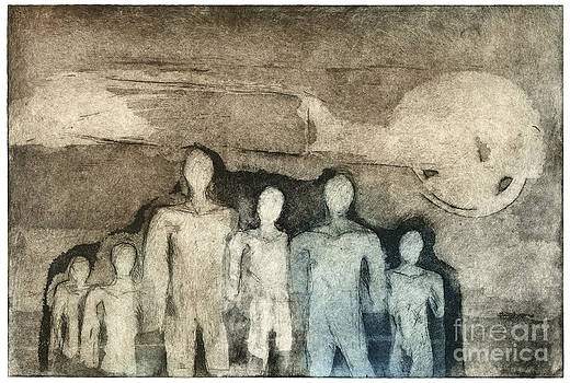 Breed Of People - Kind Of People - Etching - Group - Etching - fine art print - stock image by Urft Valley Art