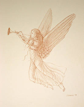 Angel with Trumpet by Deborah Dendler