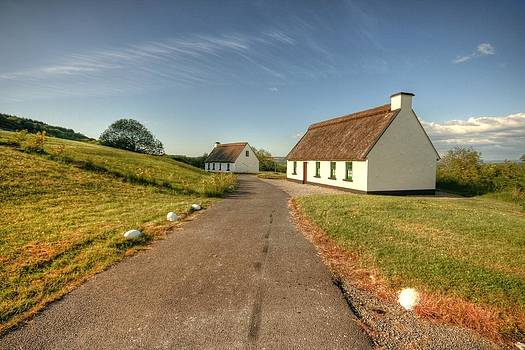 Corofin thatched cottages by John Quinn