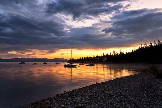 Daybreak Mooring  Waterscape Photograph By Jo Ann Tomaselli by Jo Ann Tomaselli