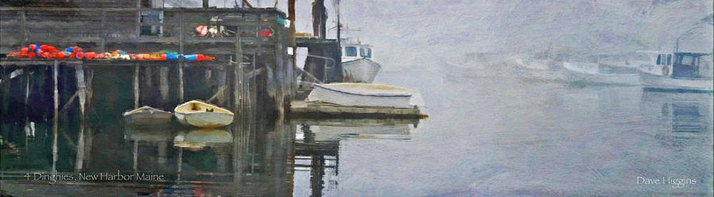 Dinghies New Harbor Maine by Dave Higgins