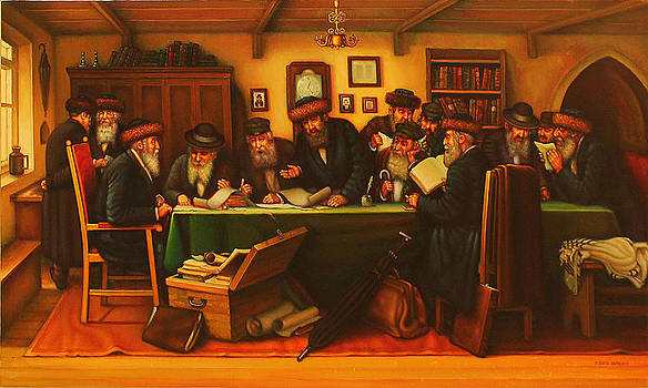 Discussion of the project of Building a new Synagogue in the Shtetl. by Eduard Gurevich