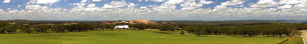 Enchanted Rock and Texas Hill Country Ranch Panorama II by Greg Reed