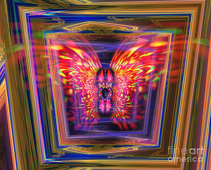Flaming Butterfly Mixed media Painting by Heinz G Mielke