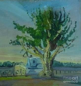 Frosty Springtime tree by Victoria  Tekhtilova