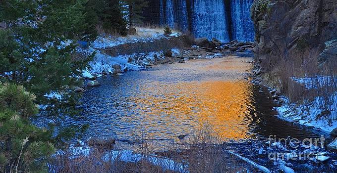 Golden Water Fall by Reza Mahlouji
