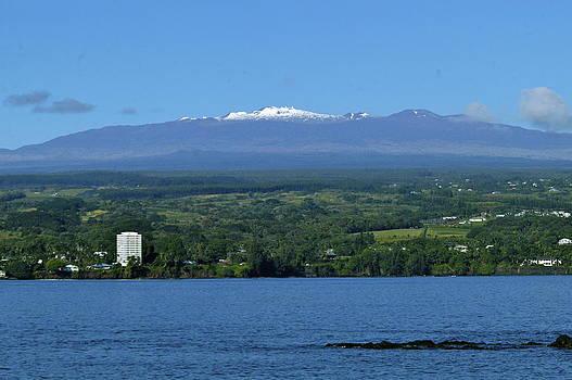 Hawaii's Snow above Hilo Bay Hawaii by Lehua Pekelo-Stearns