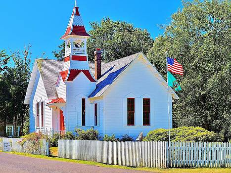 Historic Oysterville Church by Vivian Markham