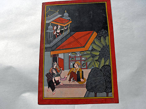 Indian miniature painting on heavy paper by Anonymous Indian artist