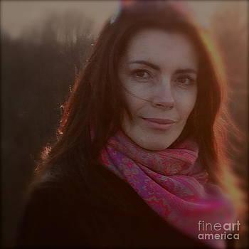 Lady Adel rise sunshine portrait by  Andrzej Goszcz