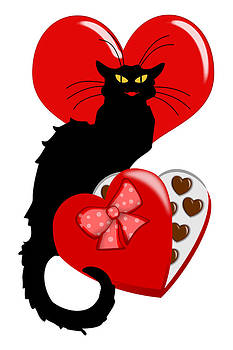 Gravityx9   Designs -  Le Chat Noir with Chocolate Candy Gift