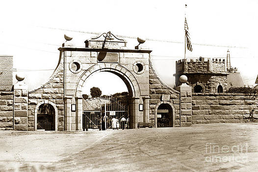 California Views Mr Pat Hathaway Archives -  Main gate at Folsom Prison California Circa 1915