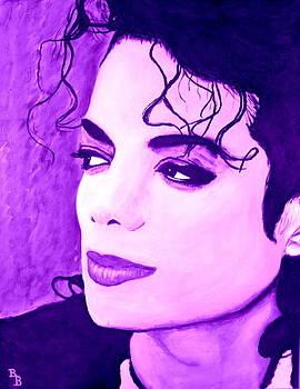 Michael Jackson in Purple by Bob Baker