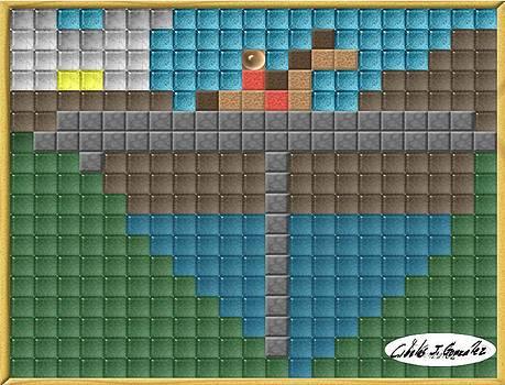 Mosaic Series- Knight Crossing A Bridge by Cibeles Gonzalez