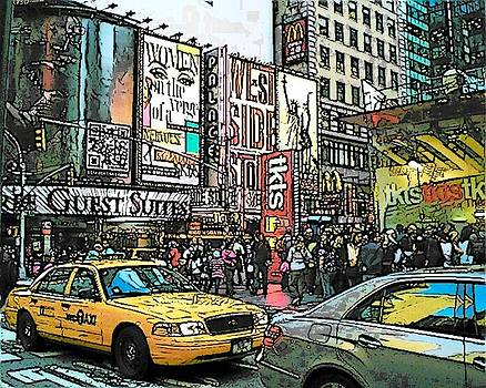 NY NY The Big Apple by Maggie  Cabral