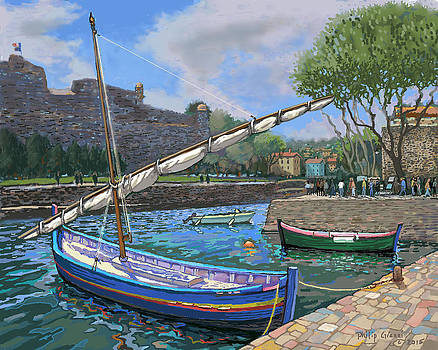 Old boats at Collioure refined by Philip Gianni