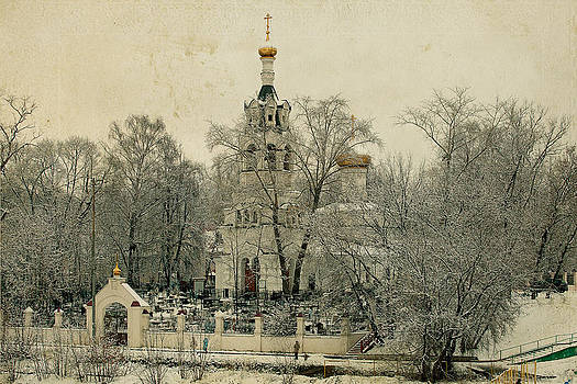 Old Russian Church by Mikhail Pankov