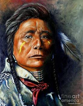 On Peaceful Mission Portrait of a Crow Indian Ambassador by Amanda Hukill
