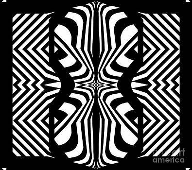 Geometric Black White Art No.297. by Drinka Mercep