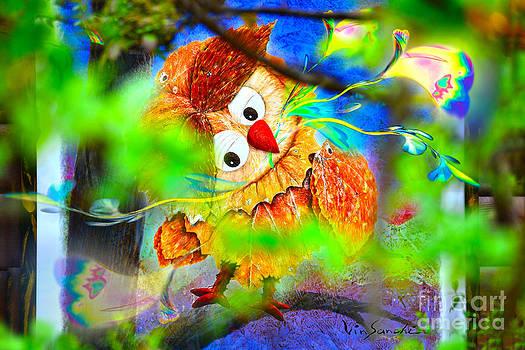 Owl Leaf forest 2 by Vin Kitayama