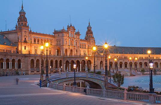 Plaza de Espana Bridges by Viacheslav Savitskiy