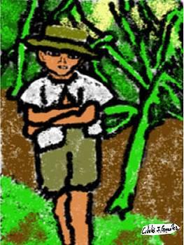 Puerto Rican Boy In Sugarcane Field by Cibeles Gonzalez