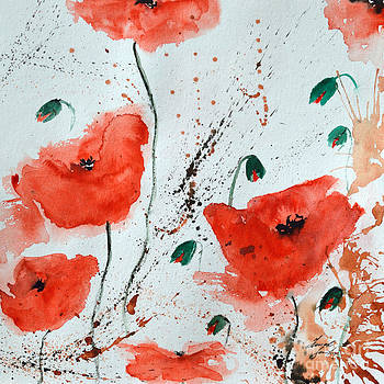 Red Poppies  by Ismeta Gruenwald