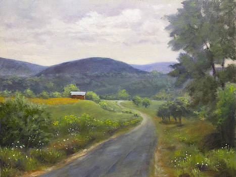 Road on a Wet Day by Mary Phelps