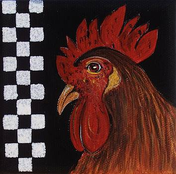 Rooster Big Red by Cindy Micklos