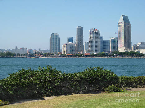 San Diego Viewed From Coronado Island by Claudia Ellis