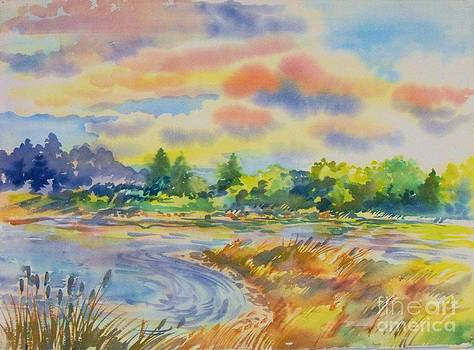 South Platt water color by Annie Gibbons