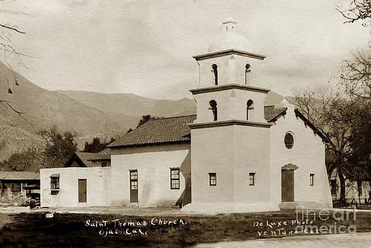 California Views Archives Mr Pat Hathaway Archives -  St. Thomas Aquinas Catholic Church  Ojai Cal 1920
