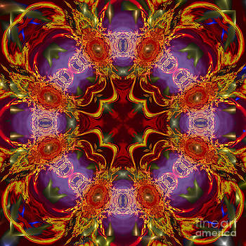 Stars Cross Mandala Digital Painting by Heinz G Mielke