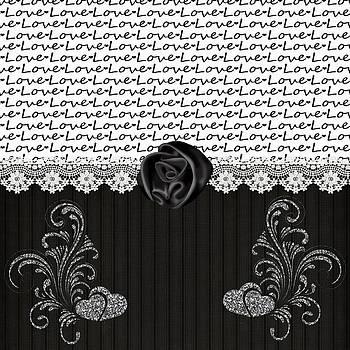 Debra  Miller -  Stylish Black Rose and Love