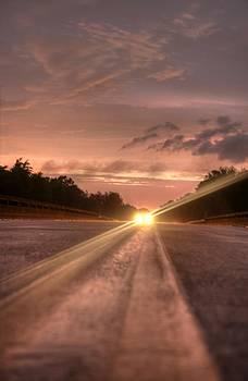 Sunset High Beams 2 by David Paul Murray