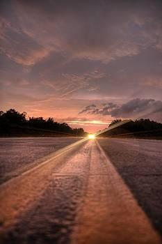 Sunset High Beams by David Paul Murray