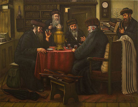 Tea party at the Gaon. by Eduard Gurevich