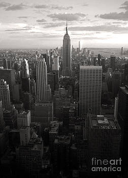 Gregory Dyer -  The Empire State Building in New York City black and white