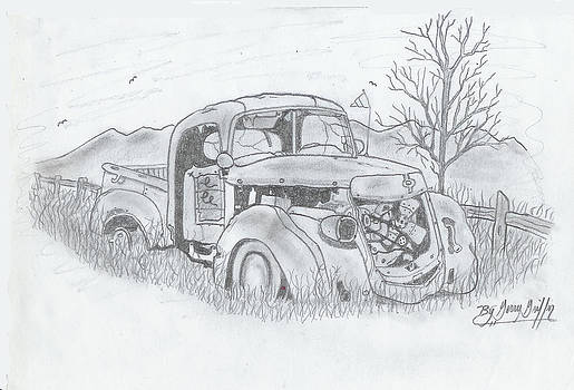 The Old Truck Lost In Time by Gerald Griffin