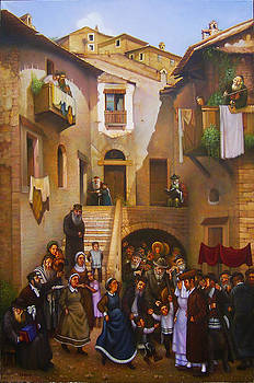 The Wedding of a Young Rabbi in Old Vilnius. by Eduard Gurevich