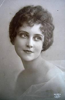 Vintage young delicate lady portrait by Florinel Nicolai Deciu