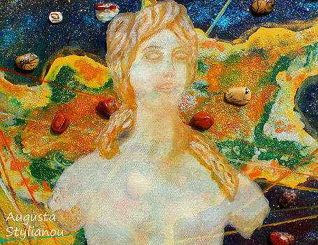 Augusta Stylianou -  Cyprus Map and Aphrodite