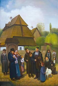 Kleizmers in Shtettl.  by Eduard Gurevich