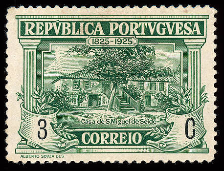 1925 Portuguese postage stamp. by Charles  Dutch